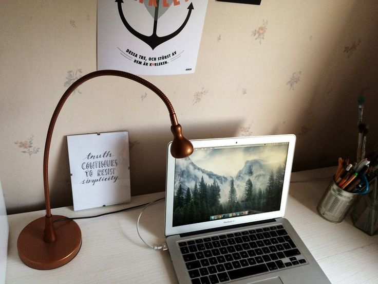 Home office.  #desk #homeoffice #lamp #light #pic #workplace