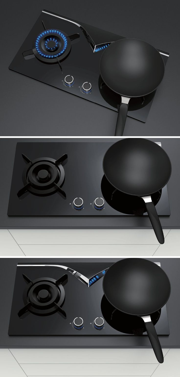 The MirrorHob places a v-shaped reflective piece in a strategic position that allows us to see if the flame is on or not, at eye level.