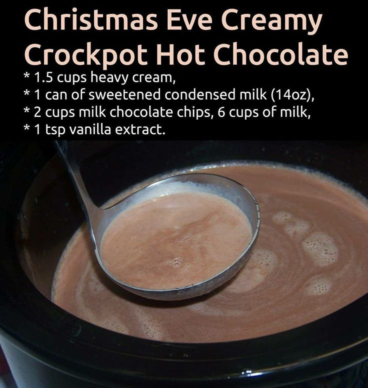 Hot Chocolate Made With Heavy Cream And Chocolate Chips