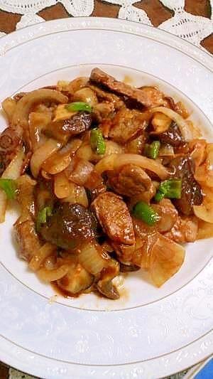 「豚肉のケチャップ炒め」今回はヘレ肉を使いましからダイエットおかずになりました。ご家族皆さんに喜ばれる味と思います。【楽天レシピ】