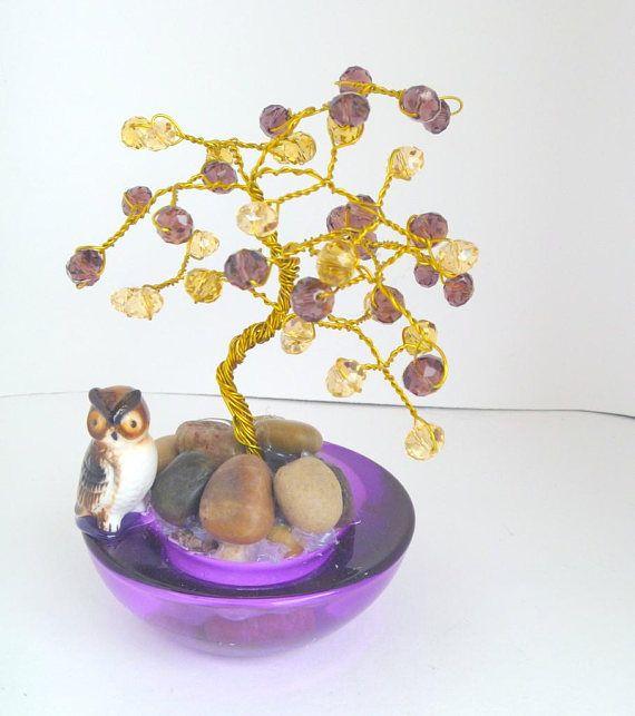 Wire Wrapped Purple  Bonsai Tree Wedding Favor Party Favor #favor #wedding #weddingfavor #bonsai