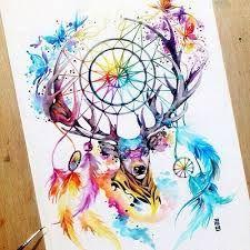 Resultado de imagen para dream catcher heart watercolor art