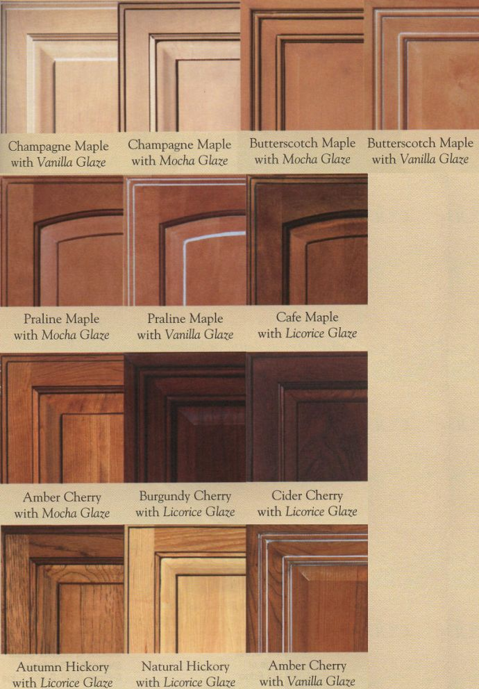 Wood Door Glazing Examples Cabinet Doors Depot Kitchens - Cherry vs maple kitchen cabinets
