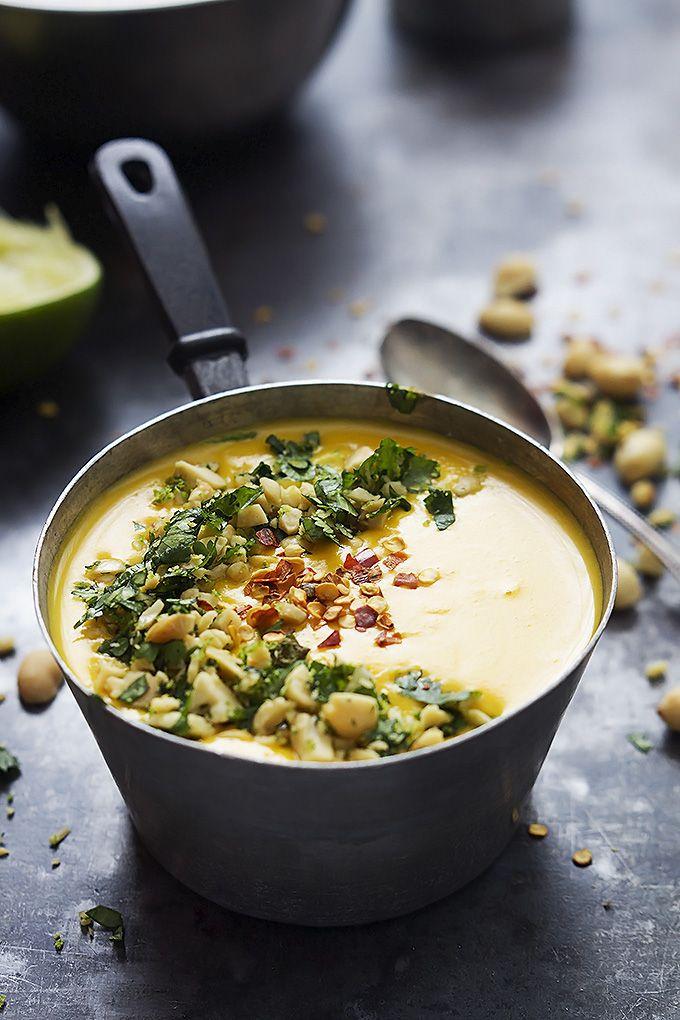 Slow Cooker Thai Butternut Squash Soup | Creme de la Crumb