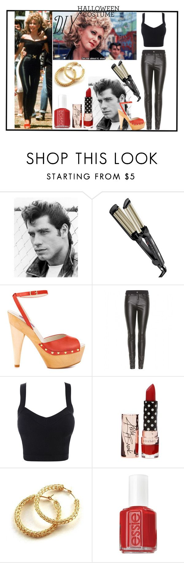 """""""DIY SANDY from GREASE"""" by thenycbaglady ❤ liked on Polyvore featuring moda, Conair, Mojo Moxy, McQ by Alexander McQueen, YooLa e Essie"""