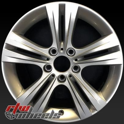 "BMW 335i wheels for sale 2012-2014. 17"" Silver rims 71534 - http://www.rtwwheels.com/store/shop/17-bmw-335i-wheels-oem-silver-71534/"