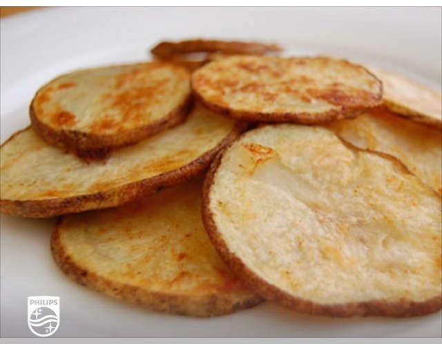 Ik heb net Aardappelschijfjes gemaakt met mijn Philips #Airfryer