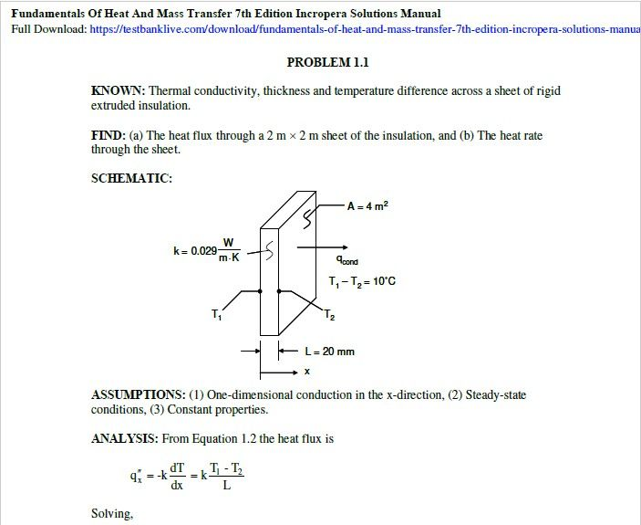 Tpi 3301 Fundamentals Of Heat And Mass Transfer 7th Edition Heat Flux Fundamental This Or That Questions