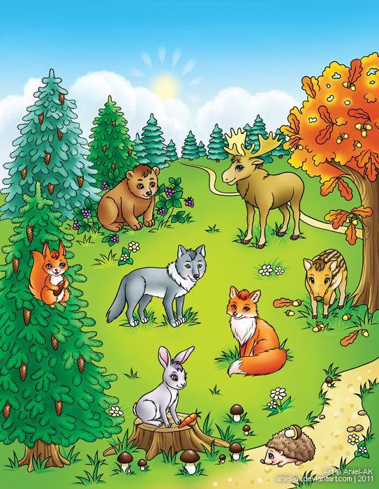 О животных наших лесов с картинками