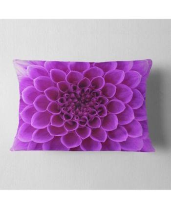 Designart Light Purple Abstract Flower Petals Floral Throw Pillow 12 X 20 Purple Floral Throw Pillows Petal Floral Flower Petals