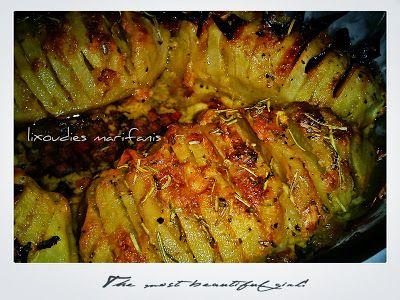 """Οι λιχουδιές της Μαριφάνης: Πατάτες """"ακορντεόν"""" με μουστάρδα!!!"""
