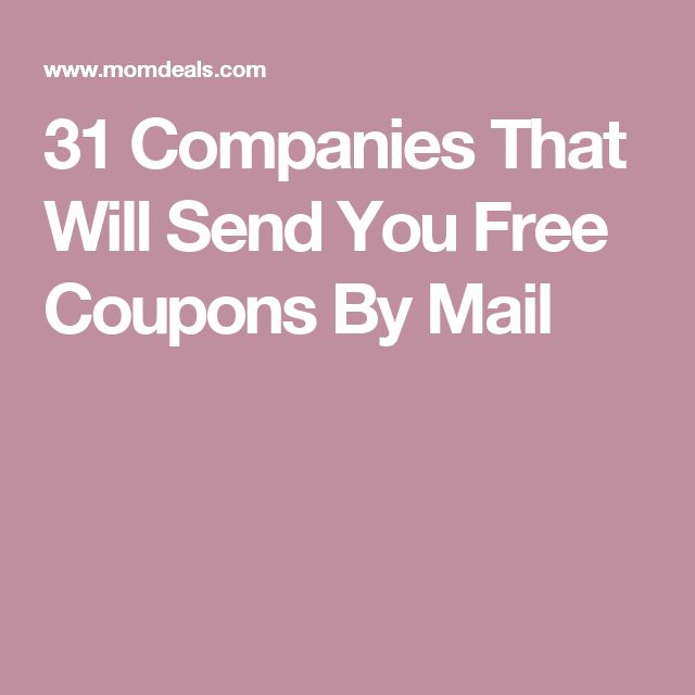 31 Companies That Will Send You Free Coupons By Mail