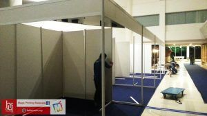 Pemasangan Booth di Persada JB, Event Anjuran Yayasan Pembangunan Keluarga Darul Ta'zim | hehe by Mega Printing & Multimedia