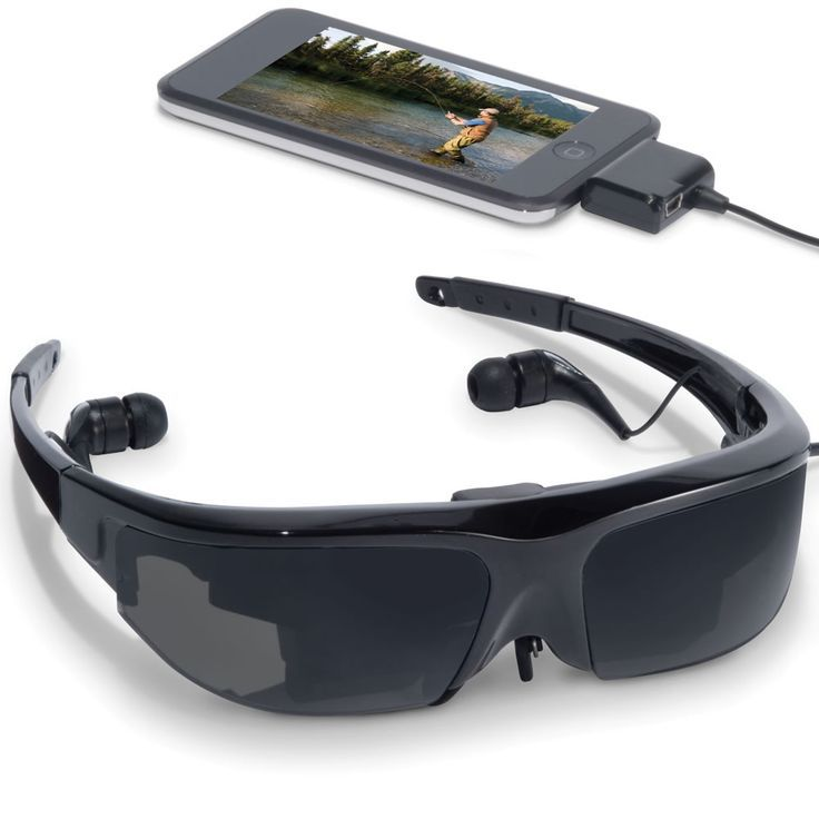 Glasses provide private viewing experience equivalent to watching a widescreen 55″ television from 10' away. It connects to a video iPod, iPod Tou…