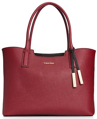 Calvin Klein Handbag, Key Items Saffiano Tote - Handbags & Accessories - Macy's