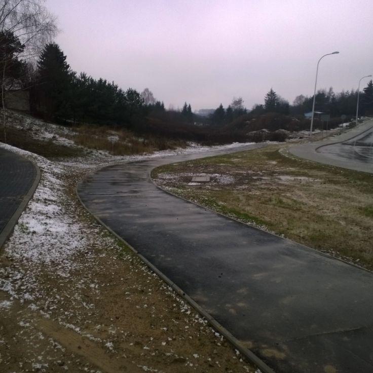"""""""Mimo złej pogody sprawdzamy stan infrastruktury #Lublin #rower"""""""