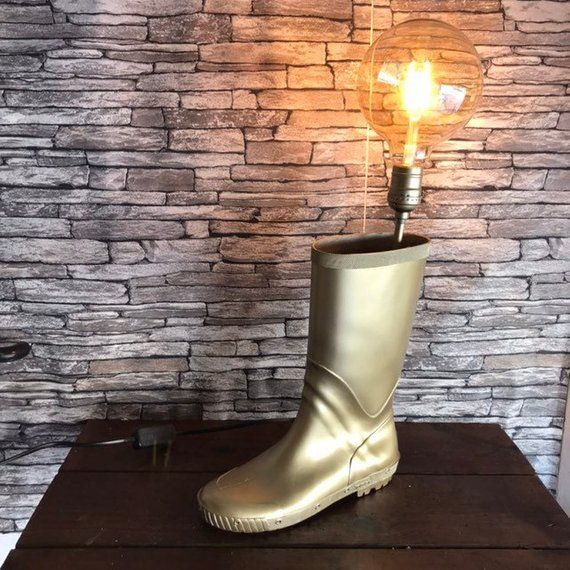 Lamp upcycled loft industrial and Bohemian by the rubber boot - cout chauffage electrique appartement