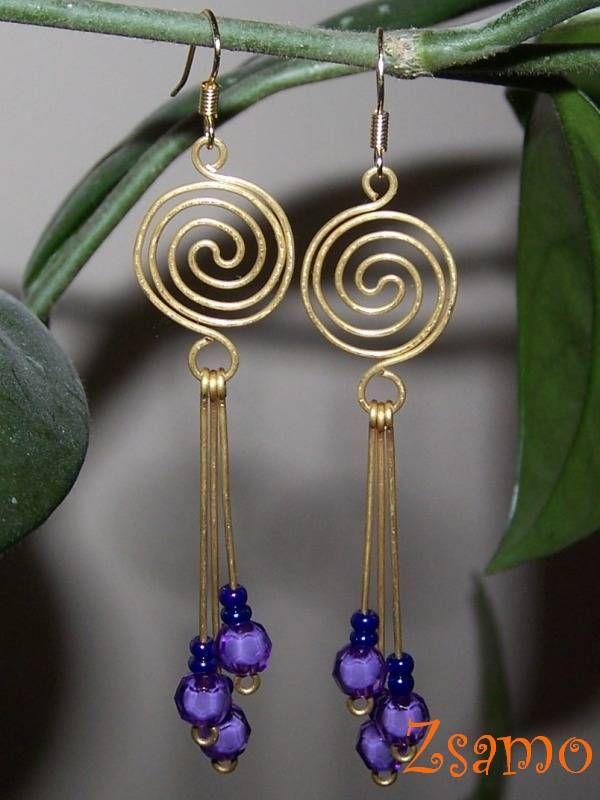 Wire earrings.  You can do this! www.nomadbeads.com ~