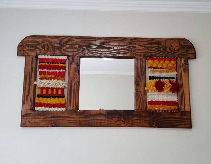 Espejo en madera nativa