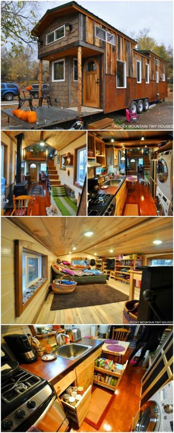 Rocky Mountain Tiny House Builders Reveal Largest Home to Date - Rocky Mountain Tiny Houses specialize in building homes that are uncomplicated and minimal. However, every now and then they get a client with extravagant dreams and they're more than happy to fulfill them with their no-nonsense approach to design and building. The 34-foot-long Red Mountain tiny house is their largest tiny house ever built and it also features some of the nicest finishes ever included.