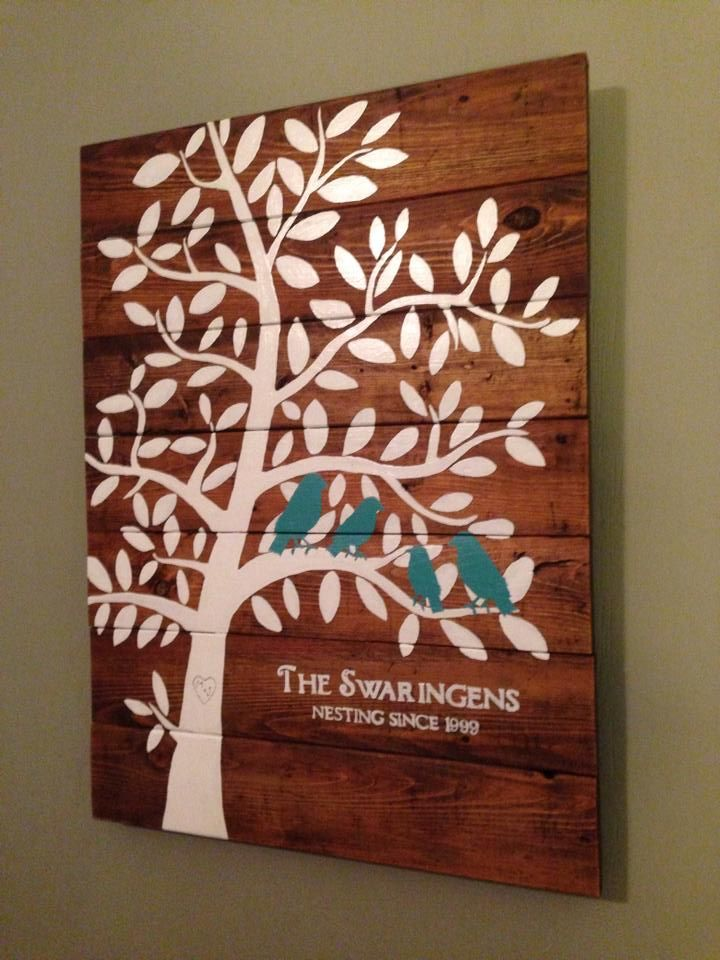 Family Tree Nesting Birds sign | Do It Yourself Home Projects from Ana White