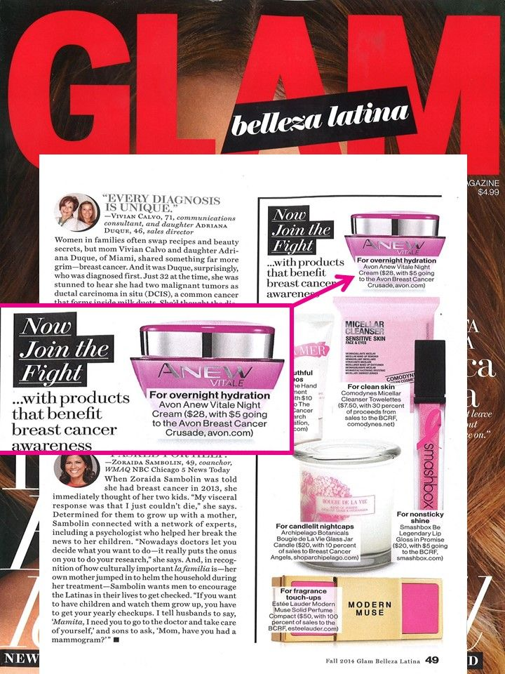 @glamlatinamag highlighted our ANEW Vitale Night Cream as a product that…