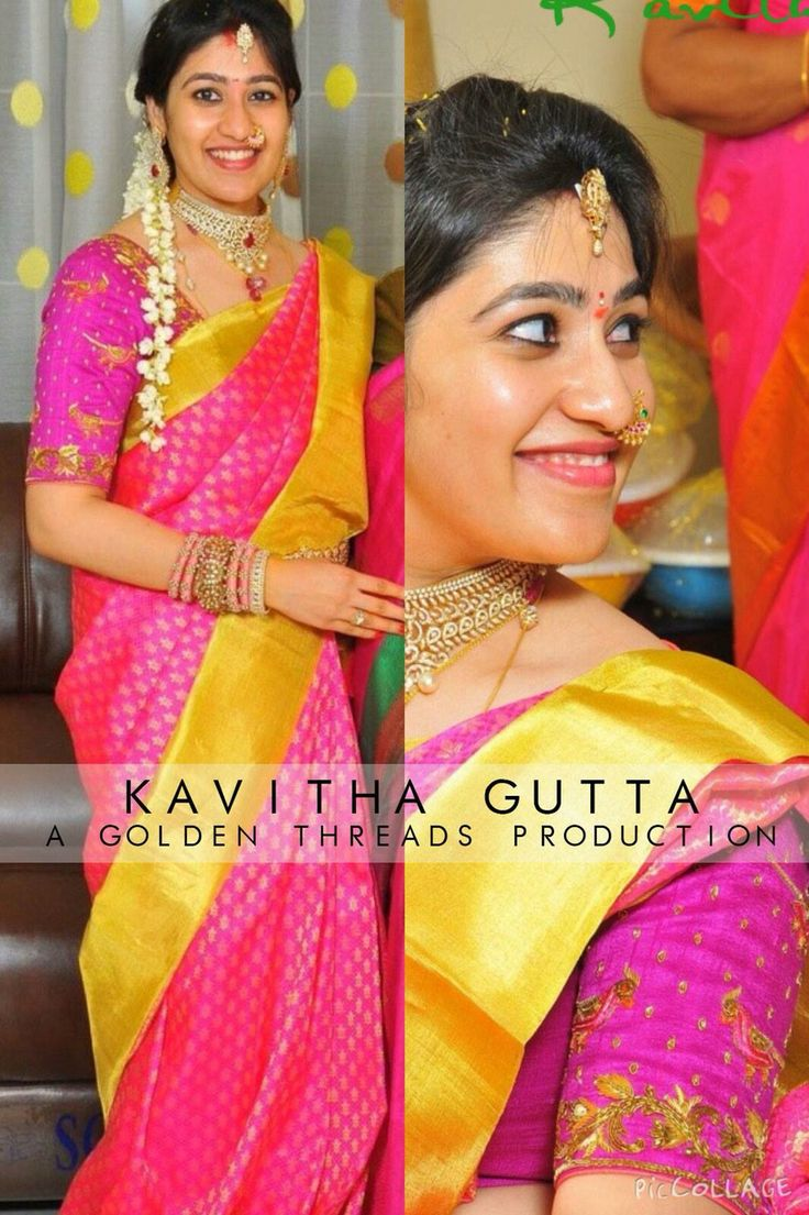 About nath nose ring mukku pudaka on pinterest jewellery gold nose - Saree Blouse Design By Golden Threads Kavitha Gutta