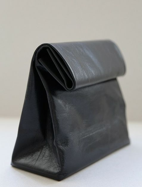 luvieur: Leather Pur, Brown Paper Bags, Style, Lunches Bags, Black Leather, Lunch Bags, Leather Bags, Diy, Leather Lunches