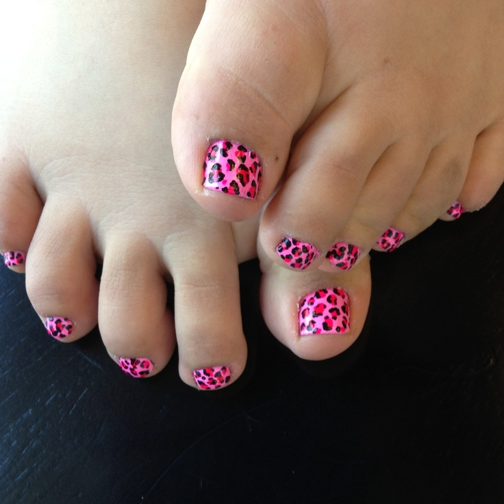 Pink Leopard Print Pedicure | Nail Art♥(ideas & tips ...