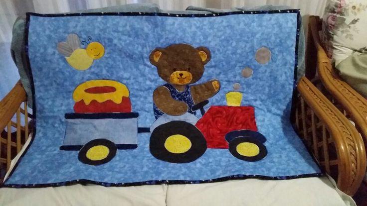 Teddy tractor appliqué