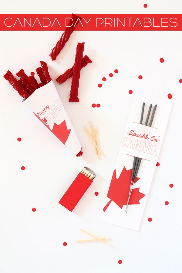 DIY/Printables | Canada Day Sparkler and Candy Cone Free Printables