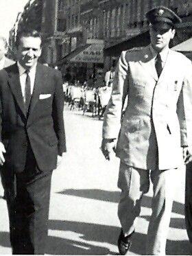 Elvis and Freddy Bienstock on the Champs Elysées