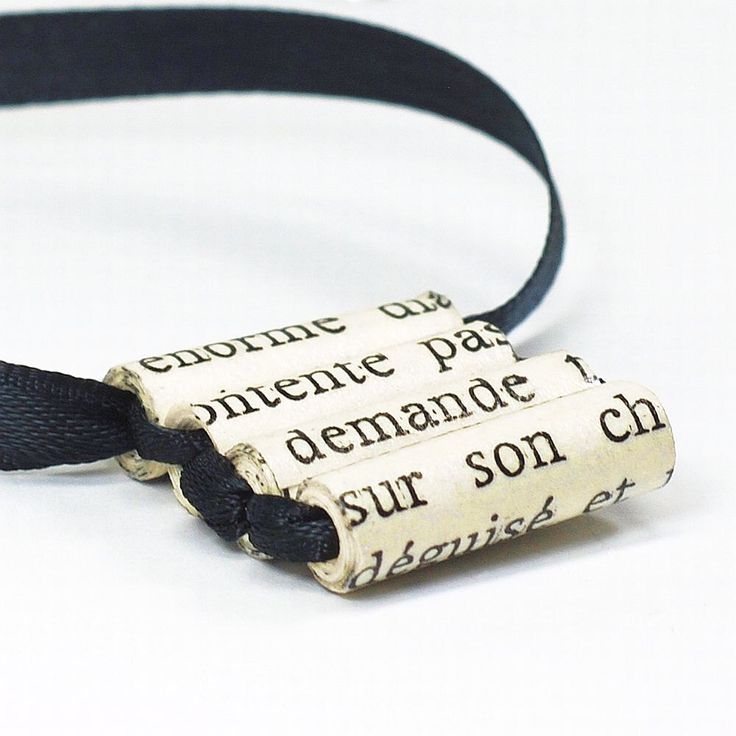 Papier kraal sieraden-Frans Upcycled zwart lint ketting, Ladder ketting, Frans sieraden, papier parel ketting, papier Jewelry door Tanith door Tanith op Etsy https://www.etsy.com/nl/listing/130580043/papier-kraal-sieraden-frans-upcycled
