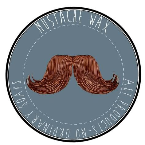 MUSTACHE WAX  by AST PRODUCTS NO ORDINARY SOAPS. Castor oil, Bee wax, Vitamine E, Fragnance. Suitable for all skin types.  www.astproducts.gr