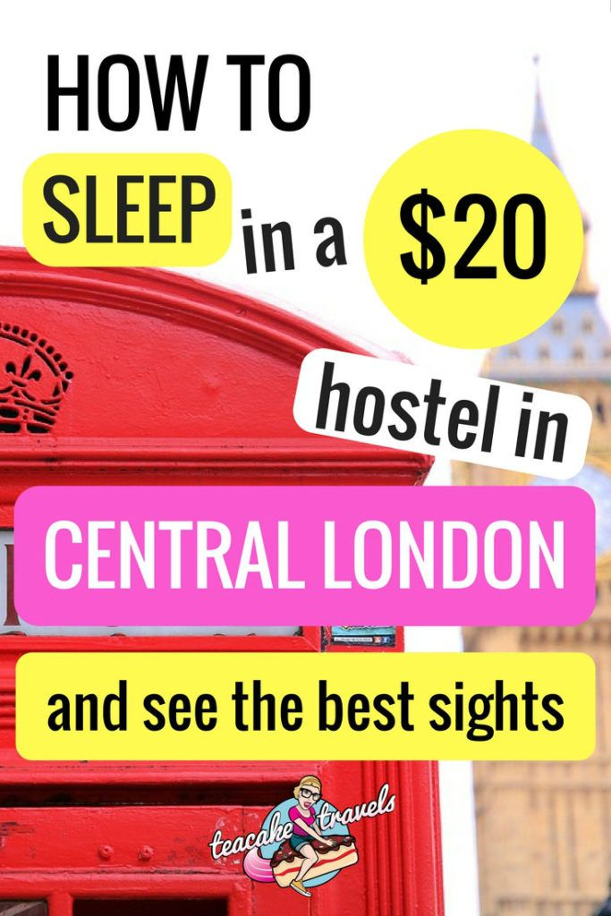 Want to stay in Central London for $20 AND see the best sights? Check out Teacake's awesome tips from St Christopher's Hostel in Liverpool Street London.