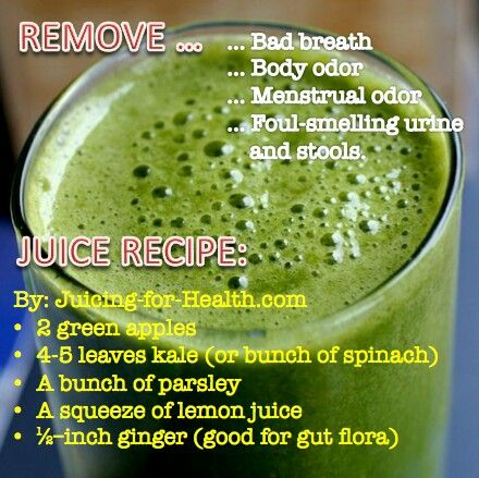 wow! juice can remove bad breath? Remove smelly odors juice