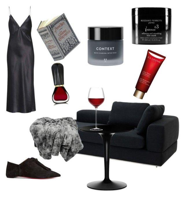 """Contest: off work..."" by dtlpinn on Polyvore featuring The Damned, Olivia von Halle, Oribe, Eichholtz, Kartell, Christian Louboutin, Rossano Ferretti, Context and Clarins"