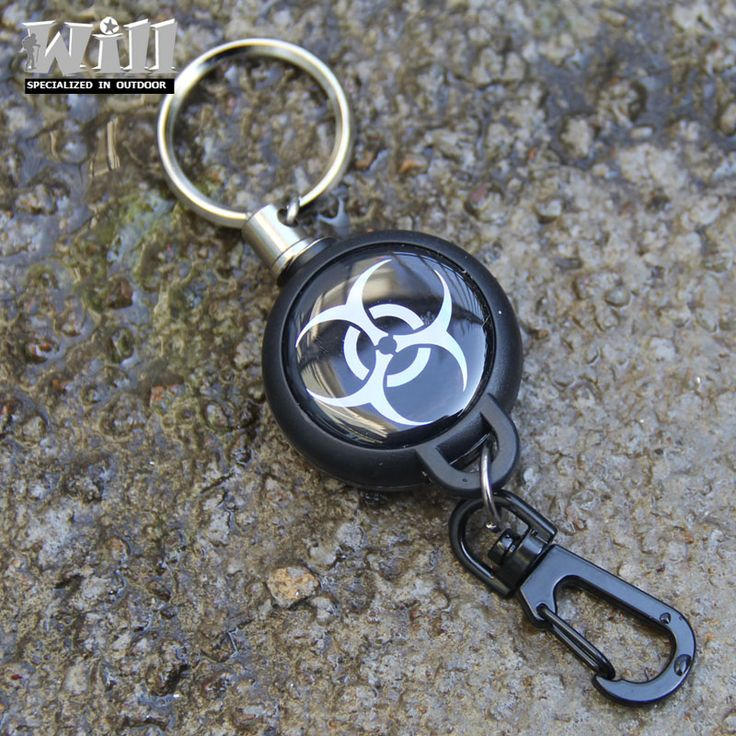 EDC Outdoor  Steel Rope Burglar Keychain Stalker Soft Shell Tactical Retractable Key Chain, Key Return key ring Camping GS-0045