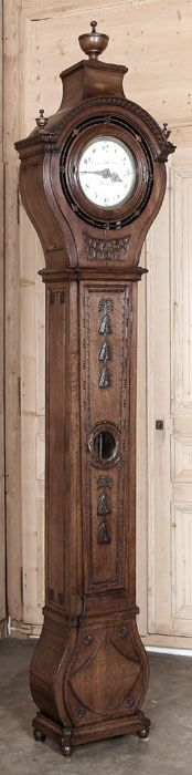 Antique French Louis XVI Style Long Case Clock | Antique Grandfather Clocks | Inessa Stewart's Antiques