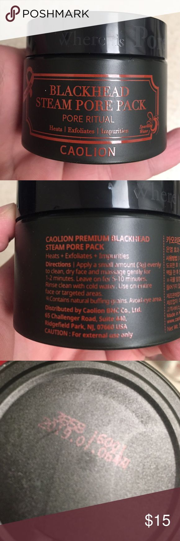 Caolion Blackhead Steam Pore Pack 1.7 oz container. Used once. Great deal on a very popular product sold at Urban Outfitters. Urban Outfitters Other