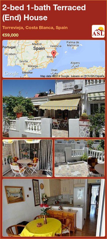 2-bed 1-bath Terraced (End) House in Torrevieja, Costa Blanca, Spain ►€59,000 #PropertyForSaleInSpain