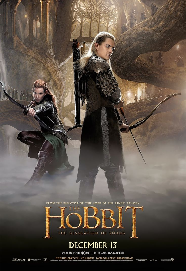 The Hobbit: The Desolation of Smaug International Poster- Legolas and Tauriel - the-hobbit Photo