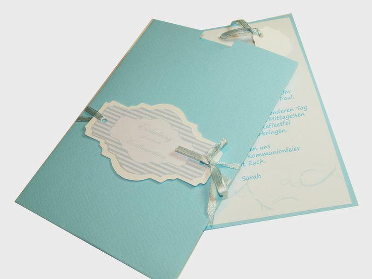 Einladungskarten - Einladung Einladungskarte Kommunion Konfi DIY - ein Designerstück von weBDsign bei DaWanda