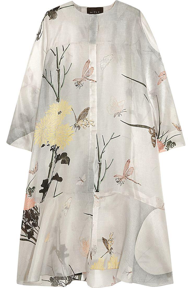Biyan | Aunne printed silk-organza dress | NET-A-PORTER.COM
