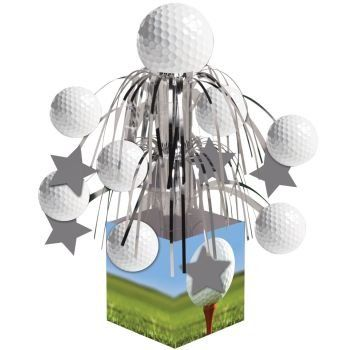 pack of 6 golf sports fanatic mini cascade foil tabletop centerpiece party decorations 85