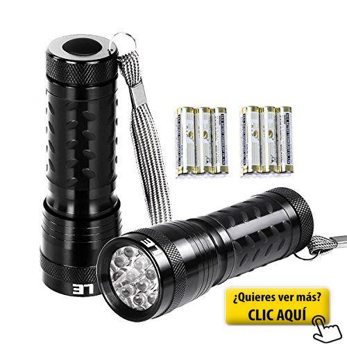 LE Pack de 2 Linternas Bolsillo LED Potente Blanco... #linterna