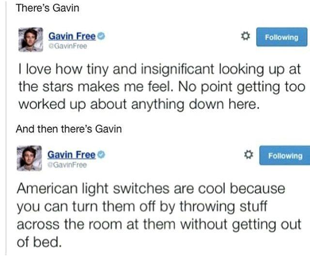 Gavin tweet quotes