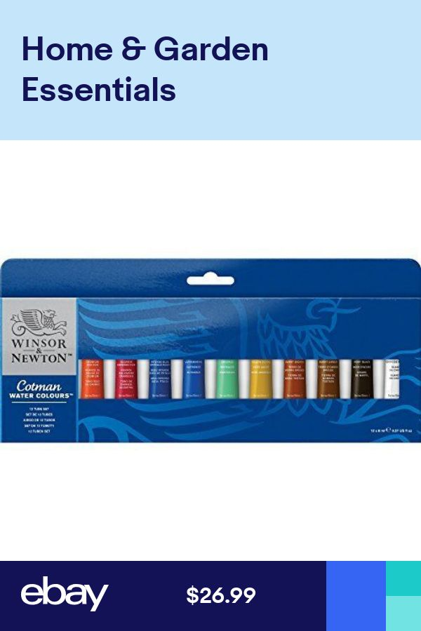 Winsor And Newton Cotman Water Color 12 Tube Set New Free Shipping