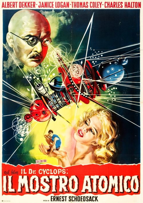 Dr. Cyclops (1940) ( vintage movie poster / retro futurism / futre / science fiction film / vintage sci fi illustration / atomic age )