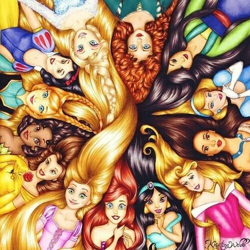 Princesses on We Heart It